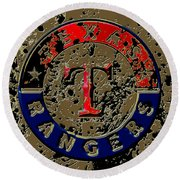The Texas Rangers 6a Round Beach Towel