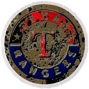 The Texas Rangers 6a Round Beach Towel