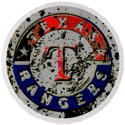 The Texas Rangers 6b Round Beach Towel