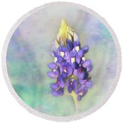 Round Beach Towel featuring the photograph The Texas State Flower The Bluebonnet by David and Carol Kelly