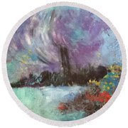 The Thames Round Beach Towel