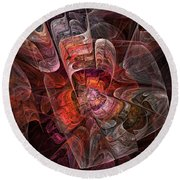 The Third Voice - Fractal Art Round Beach Towel