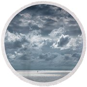 The Threatening Storm Round Beach Towel