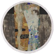 The Three Ages Of Woman-detail-1 Round Beach Towel
