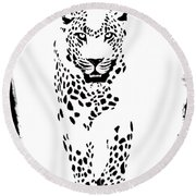 The Three Musketeers - Leopard Round Beach Towel