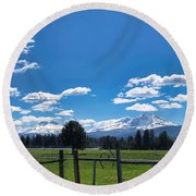 The Three Sisters Round Beach Towel