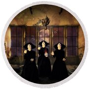 The Three Witches Round Beach Towel