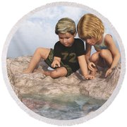 The Tide Pool Round Beach Towel