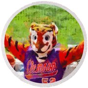 The Tiger Round Beach Towel by Lynne Jenkins