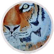 The Tiger Round Beach Towel