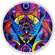 The Time Wielder Round Beach Towel