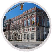 Round Beach Towel featuring the photograph The Toledo Club by Michiale Schneider