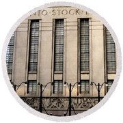 The Toronto Stock Exchange Round Beach Towel by Ian  MacDonald