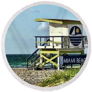 The Tower Round Beach Towel