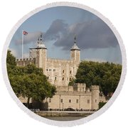 Round Beach Towel featuring the photograph The Tower Of London. by Christopher Rowlands