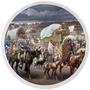 The Trail Of Tears Round Beach Towel