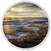 The Tranquil Seas Round Beach Towel