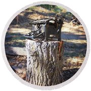 The Tree Killer Round Beach Towel