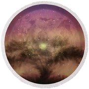 The Tree Of Illumination Round Beach Towel