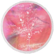 The Tree Of Life, Dedicated To Cancer Research Round Beach Towel
