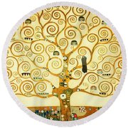 The Tree Of Life Round Beach Towel