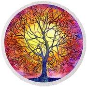 The Tree Of New Life Round Beach Towel