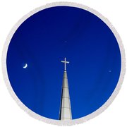 The Trinity Round Beach Towel by Charles Hite