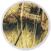 The Trojan Horse And Fall Of Troy Round Beach Towel