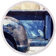 The Truck In Abstract Paint Round Beach Towel