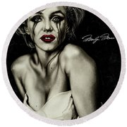 The True Marilyn Round Beach Towel