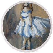 The Truth Lies Between Aguste Renoir And Marlene Dumas Round Beach Towel
