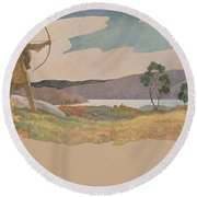 The Turkey Hunters Round Beach Towel