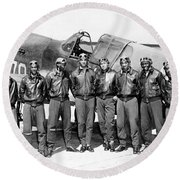 The Tuskegee Airmen Circa 1943 Round Beach Towel
