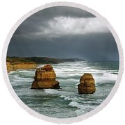 The Twelve Apostles Round Beach Towel by Marion Cullen