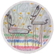 The Two Round Beach Towel by Steven Macanka