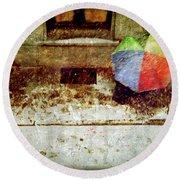 The Umbrella Round Beach Towel by Silvia Ganora