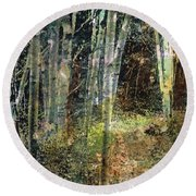 The Underbrush Round Beach Towel by Frances Marino