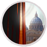 The Vatican Round Beach Towel