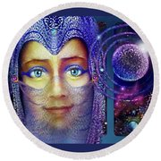 The Veil Round Beach Towel