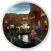The Venetian Round Beach Towel by John Kolenberg