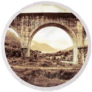 The Viaduct And The Loch Round Beach Towel