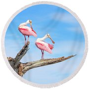 The View From Above Round Beach Towel