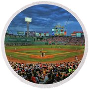 The View From Behind Home Plate - Fenway Park Round Beach Towel