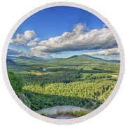 The View From Cathedral Ledge Round Beach Towel