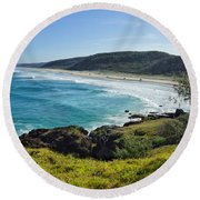 Round Beach Towel featuring the photograph The View From Double Island Point by Keiran Lusk