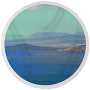 The View From Horn Head Round Beach Towel by Stephanie Moore