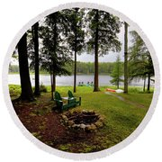 Round Beach Towel featuring the photograph The View From Northern Comfort by David Patterson