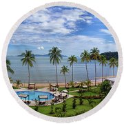 The View From Room 566 Round Beach Towel
