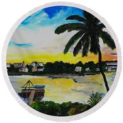 The View From Tamerind Round Beach Towel