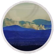 The View From The Top Round Beach Towel